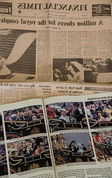 Newspaper Paper Important Wedding Bridal Historic