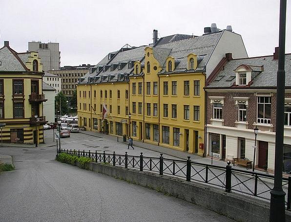 Alensund Stations Grey Sky Channels Norway