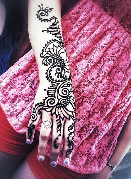 Henna Color Painter Girl Lassie Artist Beauty Mehn