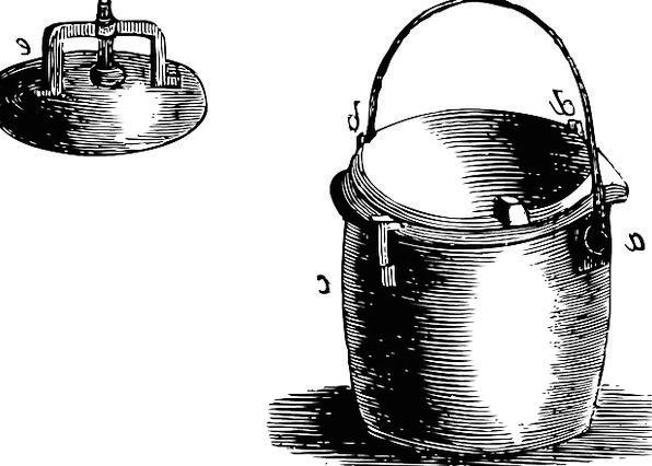Pressure Weight Oven Lid Top Cooker Pot Vessel Old