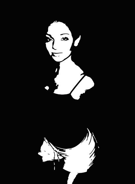 Woman Lady Fashion Outline Beauty Black And White