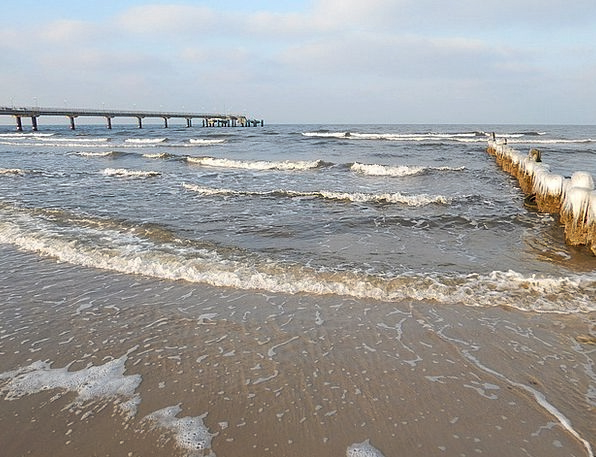 Winter Season Vacation Seashore Travel Baltic Sea