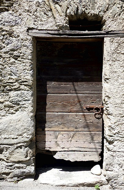 Shabby Scruffy Entrance Wooden Door Door Ruined Do