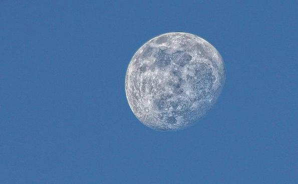 Moon Romanticize Blue Astronomy Stargazing Sky