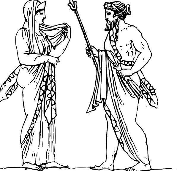 Jupiter Zeus Juno Mythical Couple Hera Couple God