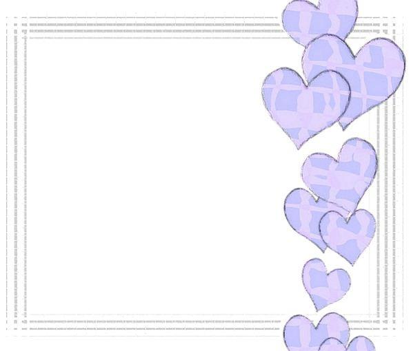 Blue Azure Emotions Frame Edge Hearts Love Darling