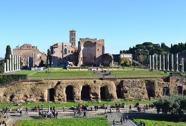 Italy Columns Pillars Rome Antique Old