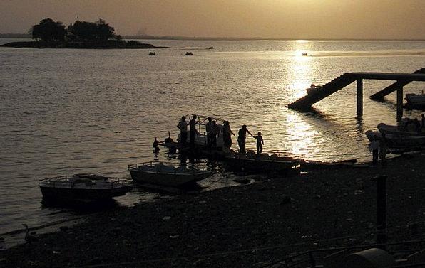 Lake Freshwater Vacation Ship Travel Sunset Sundow