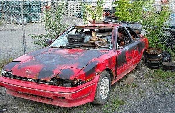 Car Wreck Traffic Ancient Transportation Rusty Cor
