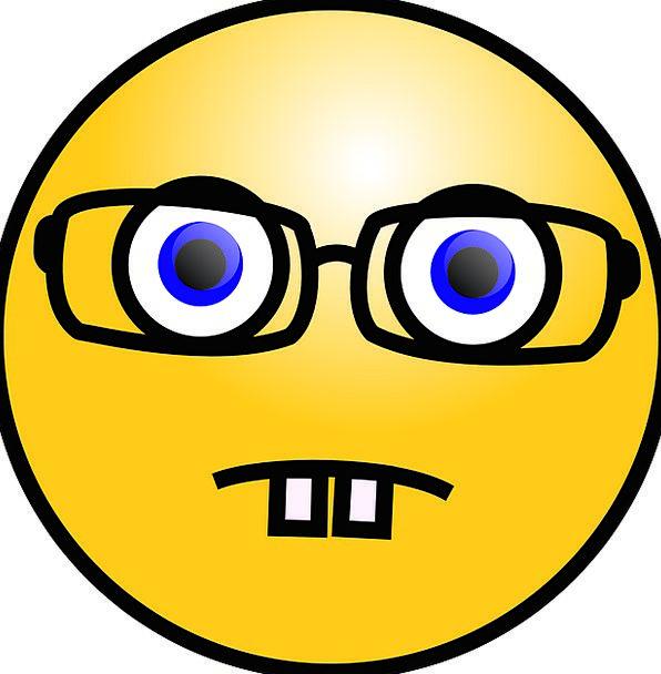 Nerd Drip Eyeglasses Spectacles Emoticon Scientist
