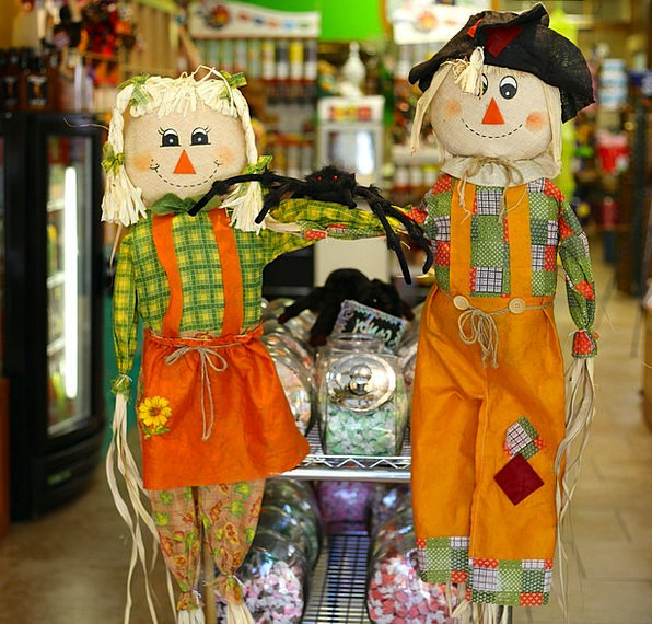 Scarecrows Figures Blessing October Thanksgiving N