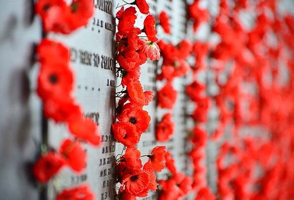 War Memorial Cenotaph Monuments Places Poppies Can