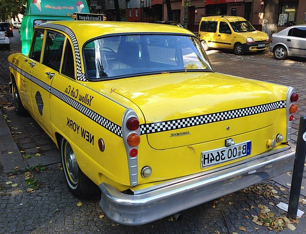 Nyc Taxi Cab Berlin Taxi Yellow Cab Old Auto Ancie