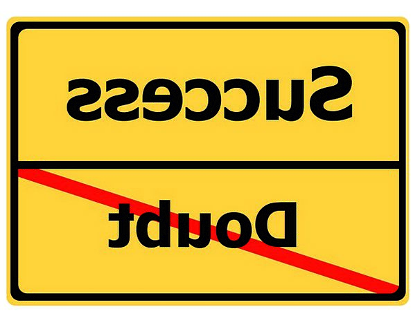 Doubt Hesitation Achievement Road Sign Sign Succes