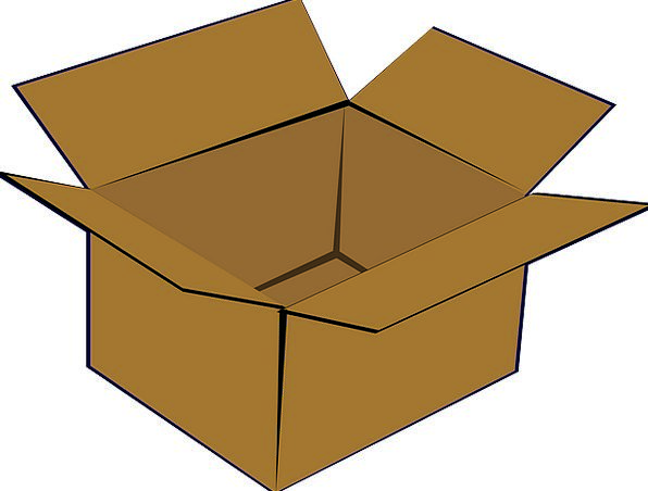 Cardboard Box Container Open Exposed Box Shipping