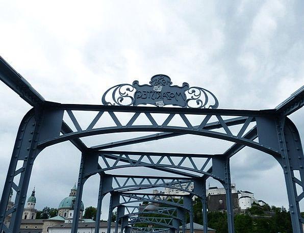 Mozartsteg Bond Web Mesh Bridge Protected Monument