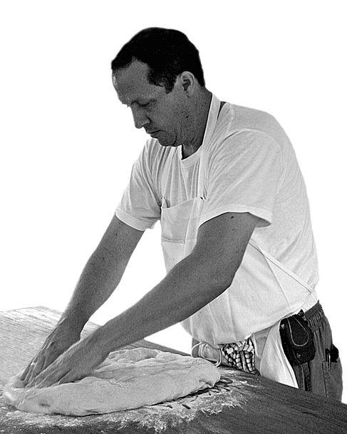 Bread Cash Bakery Baker Man Knead Massage White Kn