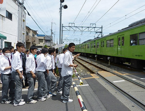 Japanese Lads Students Scholars Boys Track Waiting