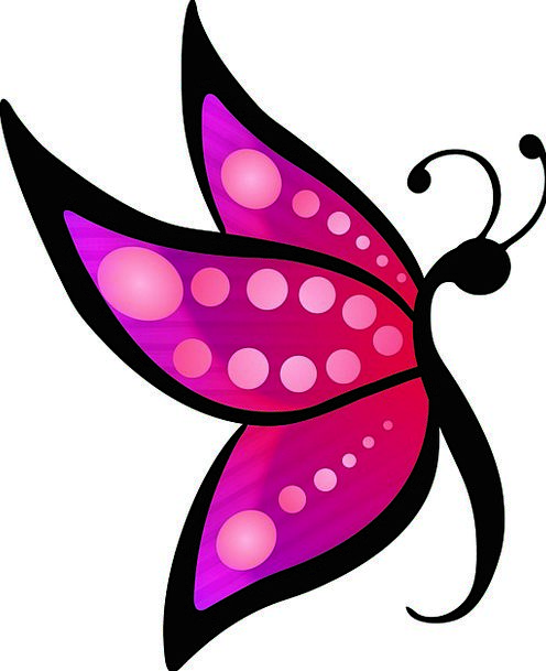 Butterfly Textures Incline Backgrounds Colorful In