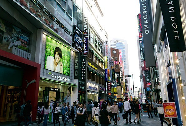 Myeongdong Buildings Architecture Korea Seoul Down