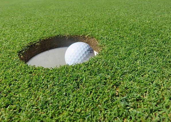 Golf Ball Eingelocht Golf Ball Sphere Hole Putting