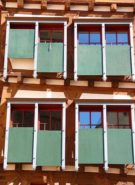 Shutters Closes Bind Fachwerkhaus Truss Wood Timbe
