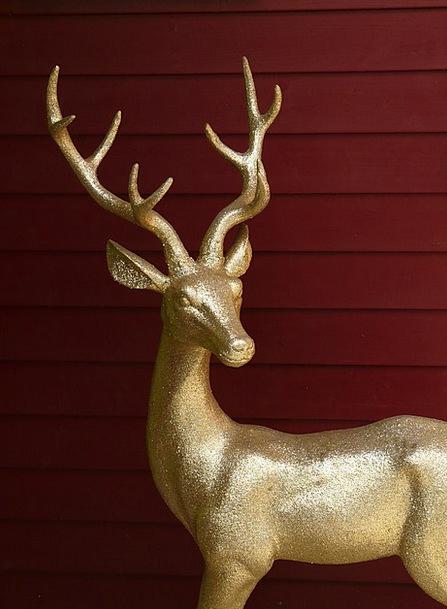 Hirsch Horn Golden Excellent Antler Glitter Sparkl