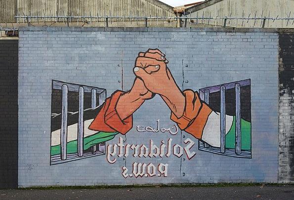 Mural Fresco Conflict Battle Belfast Prisoner Of W