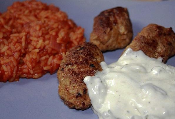 Cevapcici Drink Food Djuvec Meat Klose Zaziki Eat