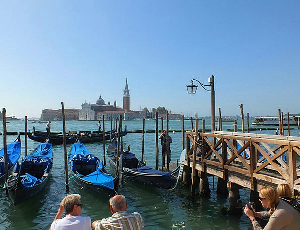 Venice Gondolas Italy Cathedral Church San Giorgio