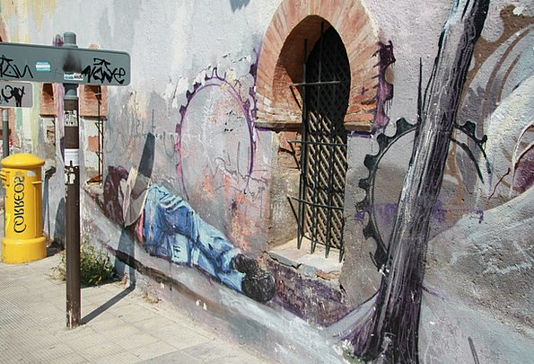 Graffiti Drawings Fresco Street Art Mural Granada