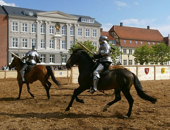 Middle Ages Cavaliers Horses Cattle Knights Tourna