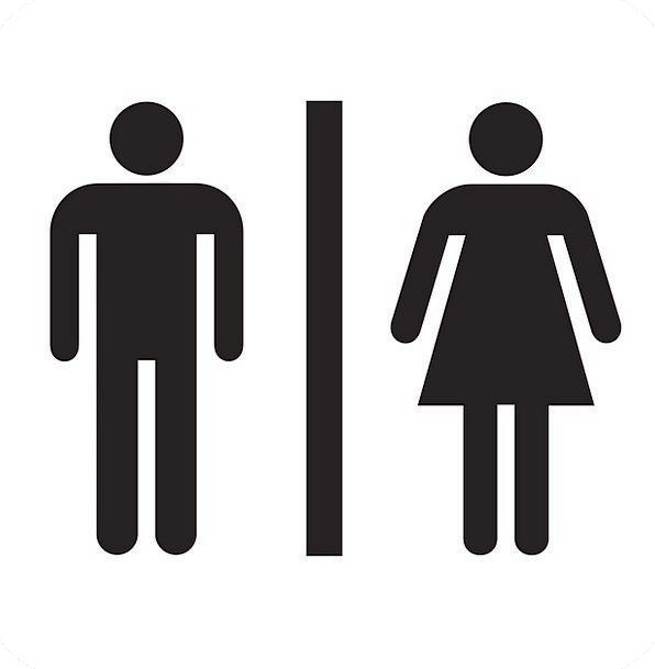 Restroom Washroom Lavatory Sign Bathroom Male Ladi