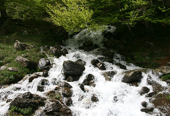 Cascade Waterfall Landscapes Countryside Nature Ri