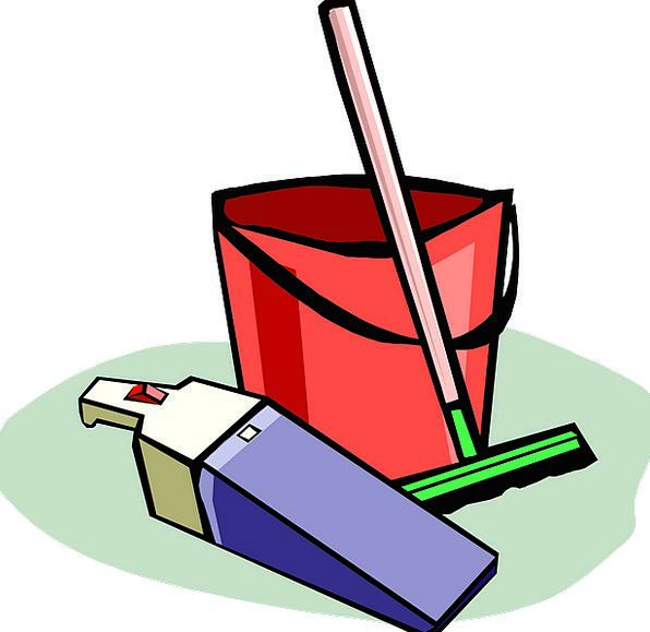 Cleaning Provisions Bucket Pail Supplies Free Vect