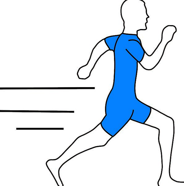 Runner, Sprinter, Sketch, Isolated, Remote, Drawing