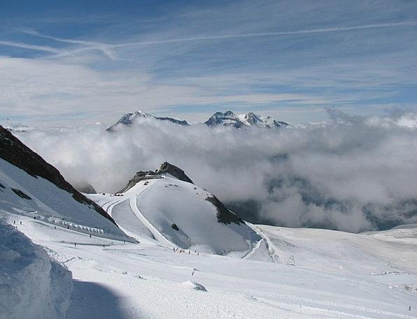 Ski Landscapes Nature Alpine Mountainous Four Thou