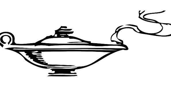 Lamp Uplighter Sprite Aladdin Genie Smoke Fiction