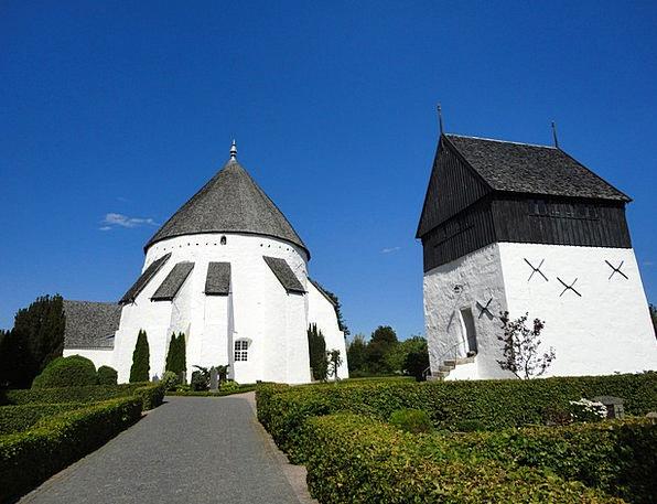 The Round Church Denmark Bornholm White Church