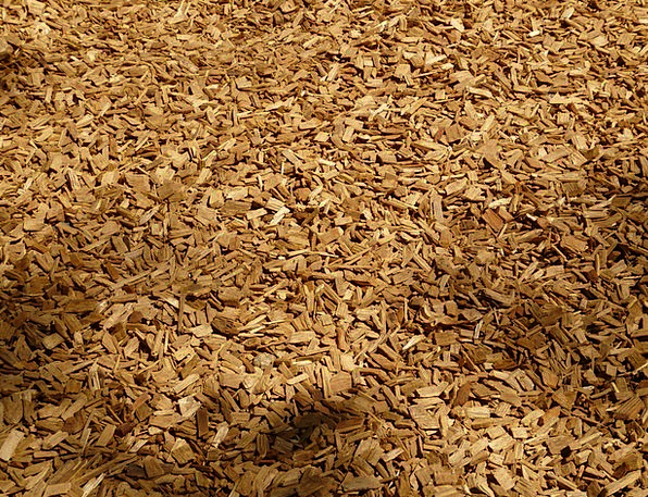 Shredded Torn Wood Timber Shredder Wood Chips Grou