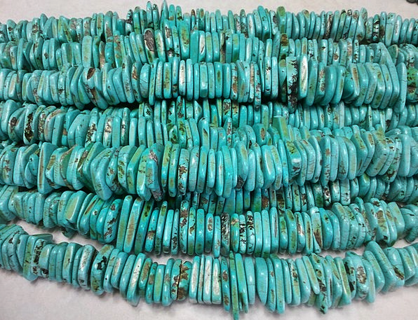 Beads Drops Craft Industry Necklace Chain Turquois
