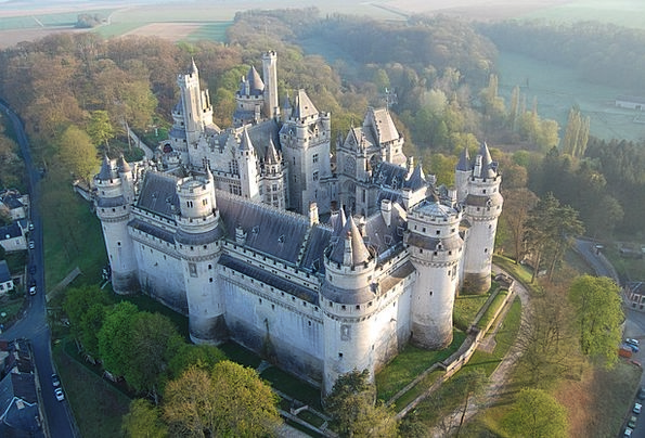 Pierrefonds Fortress Aerial View Castle France
