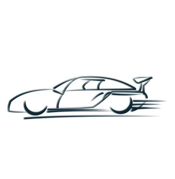 Race Car Traffic Transportation Symbol Sign Logo A