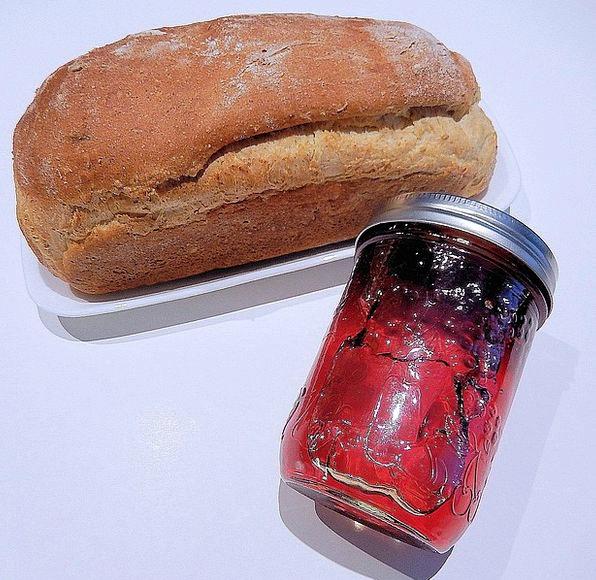 Multi Grain Bread Home Preserves Crab Apple Jelly