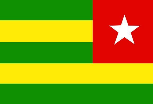 Togo Standard Nation State Flag Free Vector Graphi