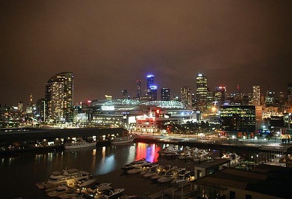 Melbourne Buildings Architecture Skyline Horizon A