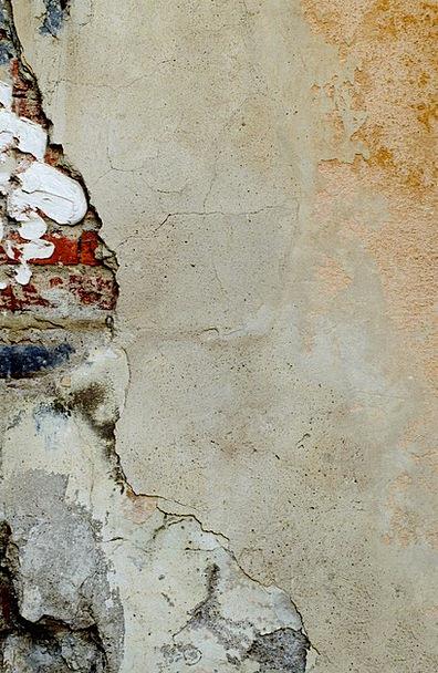 Plaster Covering Injured Bricks Elements Damaged D