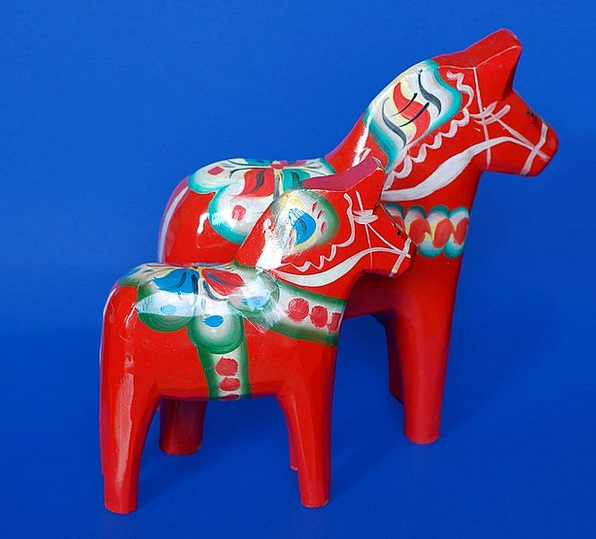 Wooden Timber Bloodshot Sweden Red Horses Cattle T