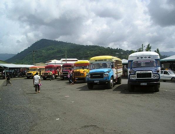 Buses Cars Exotic Unusual Samoa South Sea