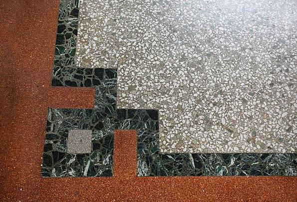 Estrazzo Ground Pebble Rug Floor Corners Angles Sq